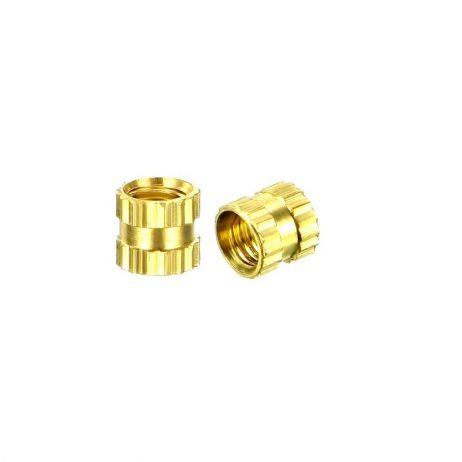 M4 X 4 mm Brass Heat set Threaded Round Insert Nut