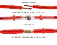 3mm Electrical Waterproof Seal Heat Shrink Splice Wire Sleeve White-Red