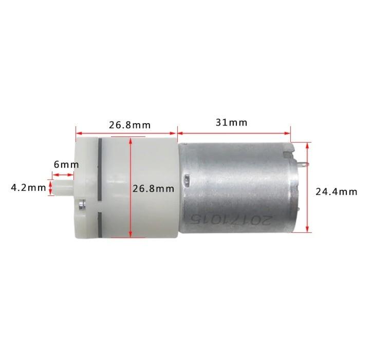 DC 6V 380mA 500mmHg Micro Air Pump
