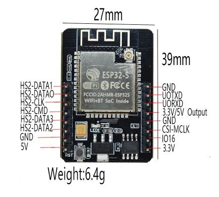 ESP32 CAM WiFi Module Bluetooth with OV2640 Camera Module 2MP