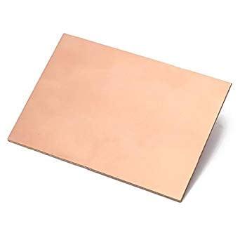 FR4 Copper Clad Laminate Double Side PCB 100 x 75 x 1.5 mm