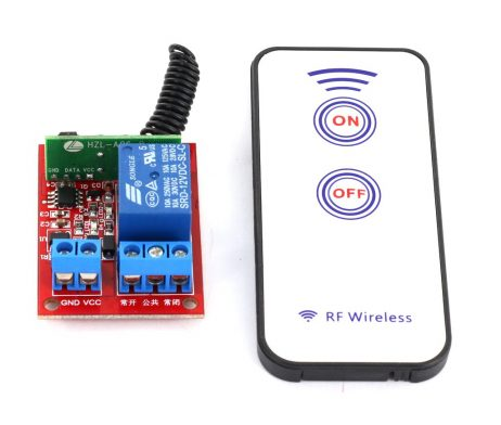 Generic 12V One Channel RF Wireless Relay Module with Remote Control