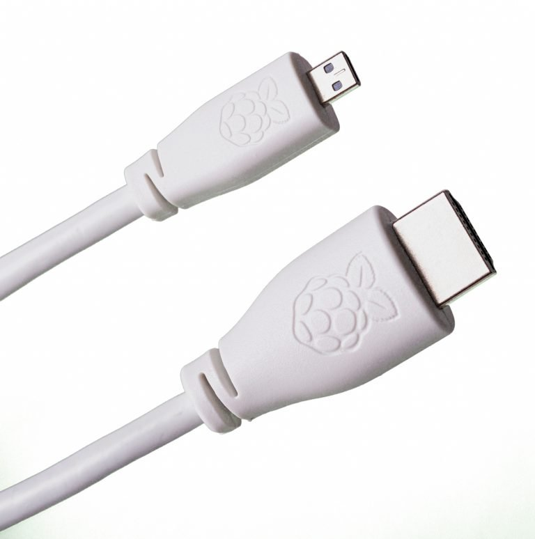 Micro HDMI (Male) to Standard HDMI (Male) Cable for Raspberry Pi 4