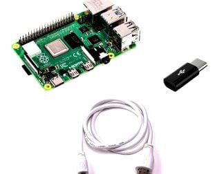 (Robu.in)Raspberry Pi 4 Model-B 1 GB Combo