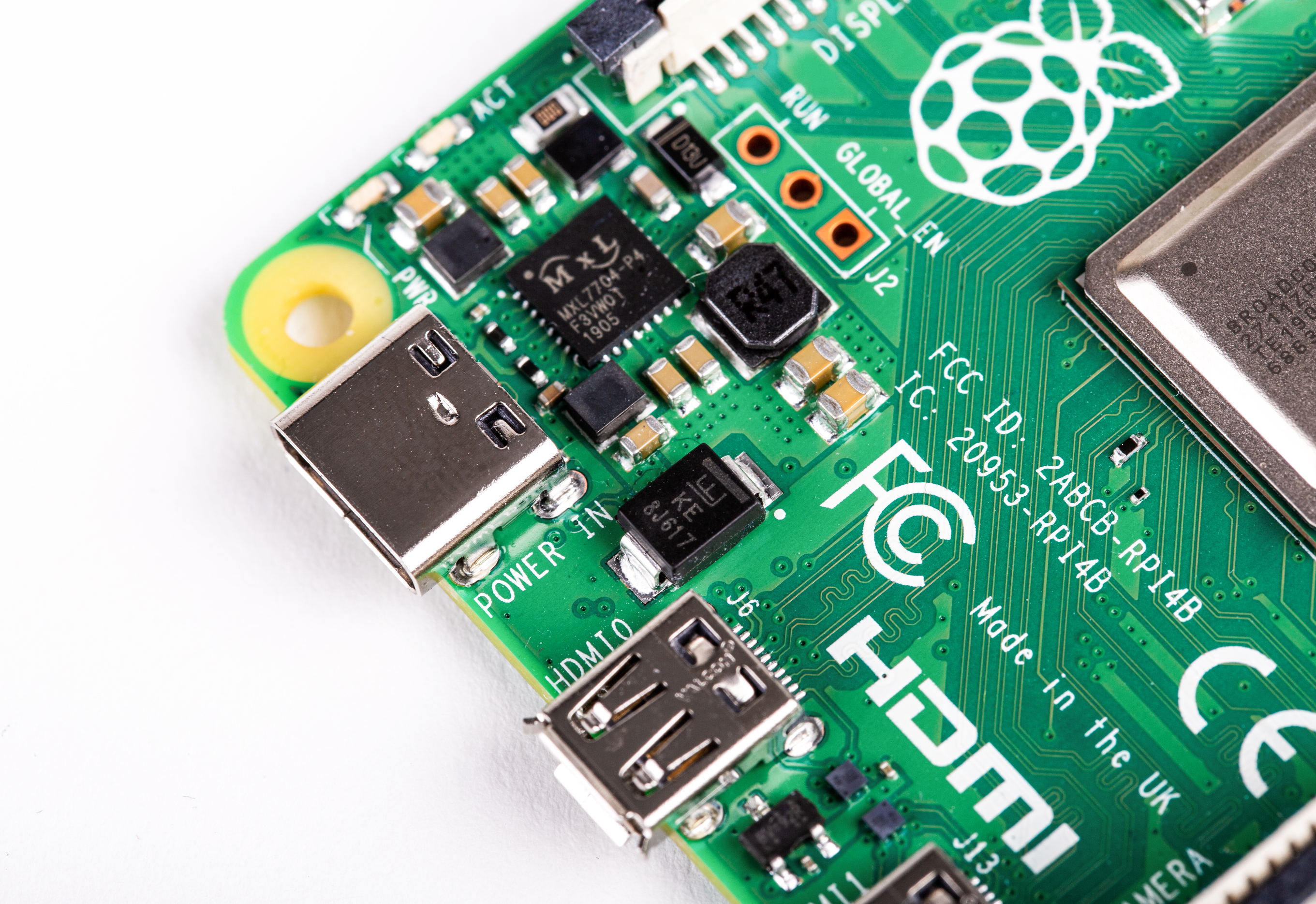 Raspberry Pi 4 Model-B with 2 GB RAM--POWER_PORT