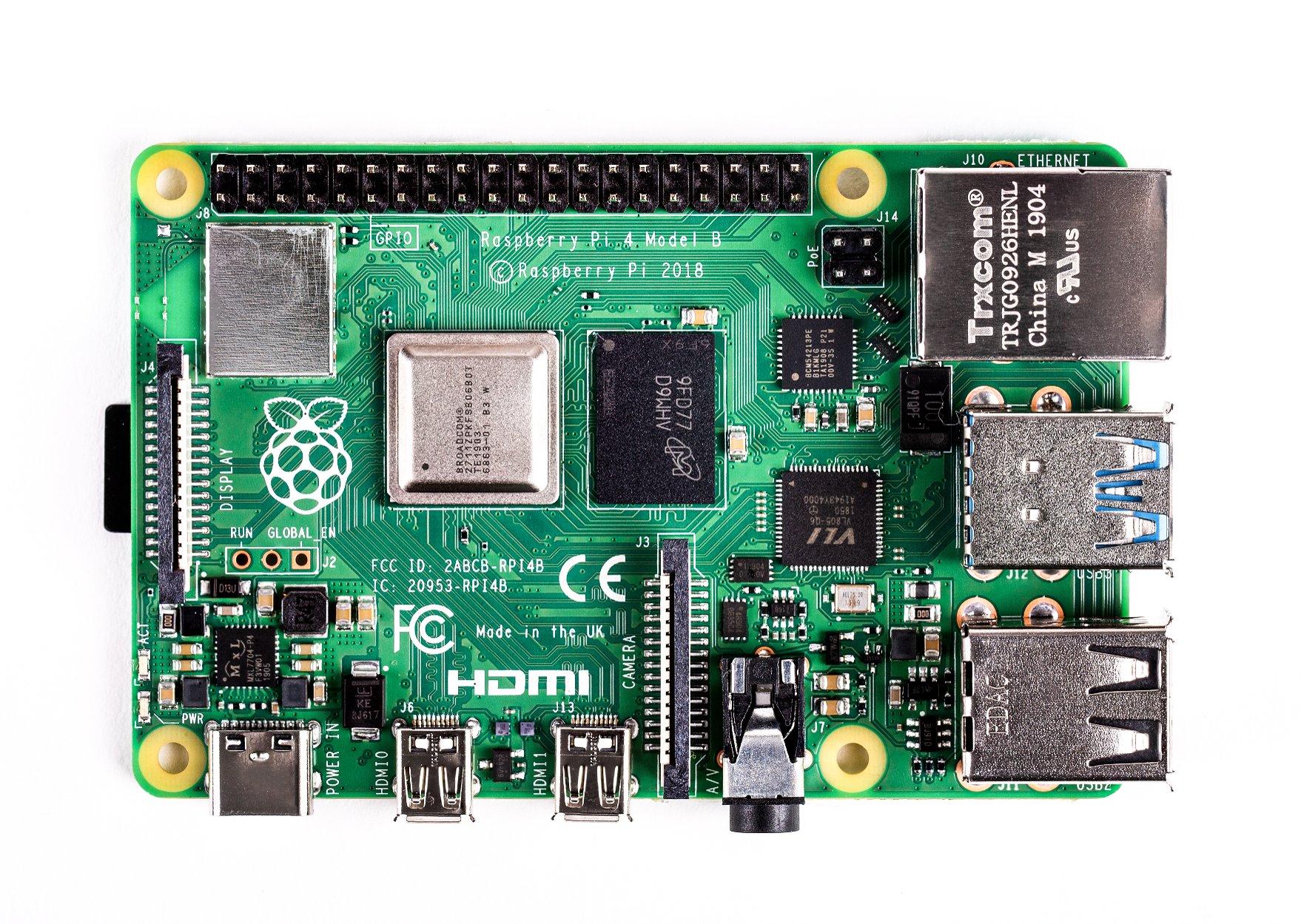 Raspberry Pi 4 Model-B with 2 GB RAM--TOPVIEW