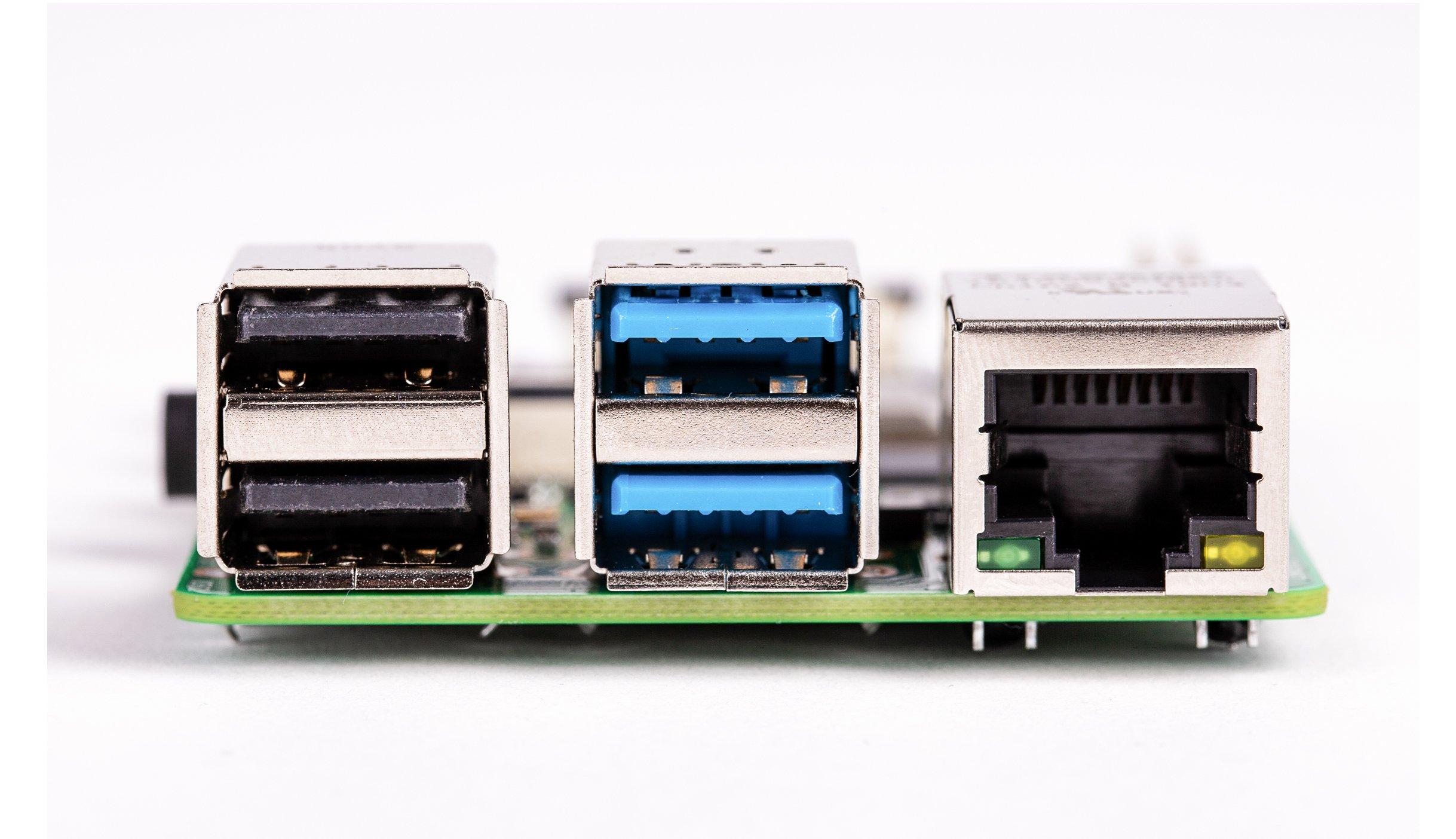 Raspberry Pi 4 Model-B with 2 GB RAM--USB_LAN_PORT