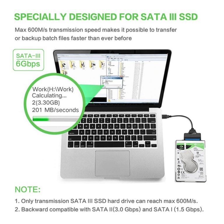 SATA III SATA to USB Adapter Supports up to 6 Gb/s