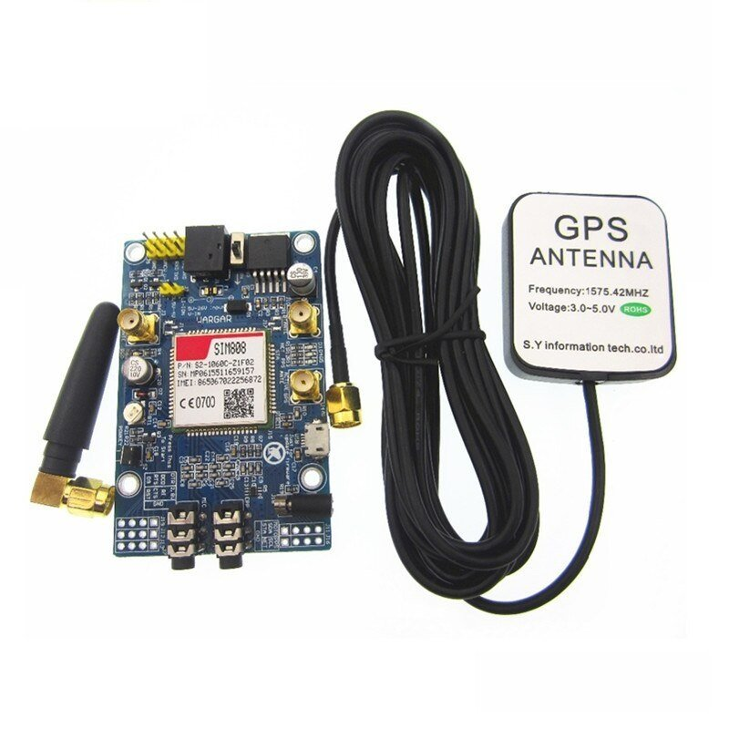 SIM808 GSM/GPRS/GPS Bluetooth Compatible Development Board With GPS Antenna  (Arduino and Raspberry Pi Compatible)