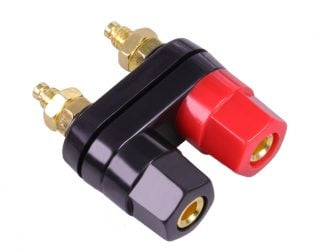 Banana plugs Couple Terminals Red Black Connector Amplifier Terminal