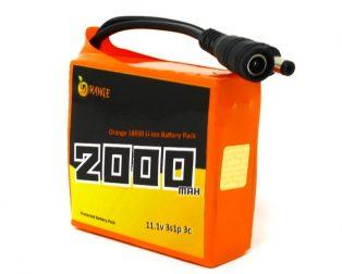 Orange 18650 Li-ion 2000mAh 11.1v 3S1P Protected Battery Pack-3c