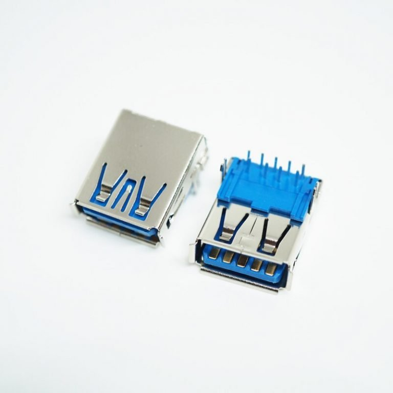 USB 3.0 Type A Female 9 pin Right Angle PCB Mount Connector