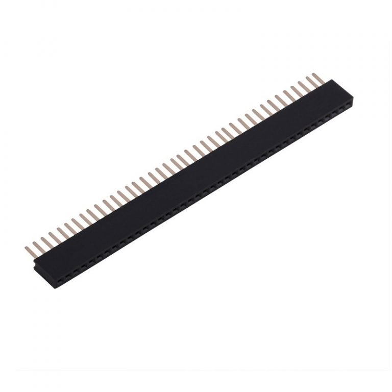 1.27mm 1x40 Pin Female Single Row Through-hole Header Strip