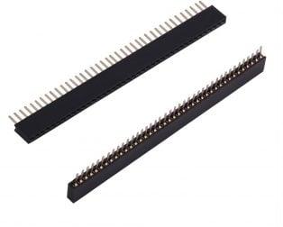 1.27mm 1x40 Pin Female Single Row Through-hole Header Strip