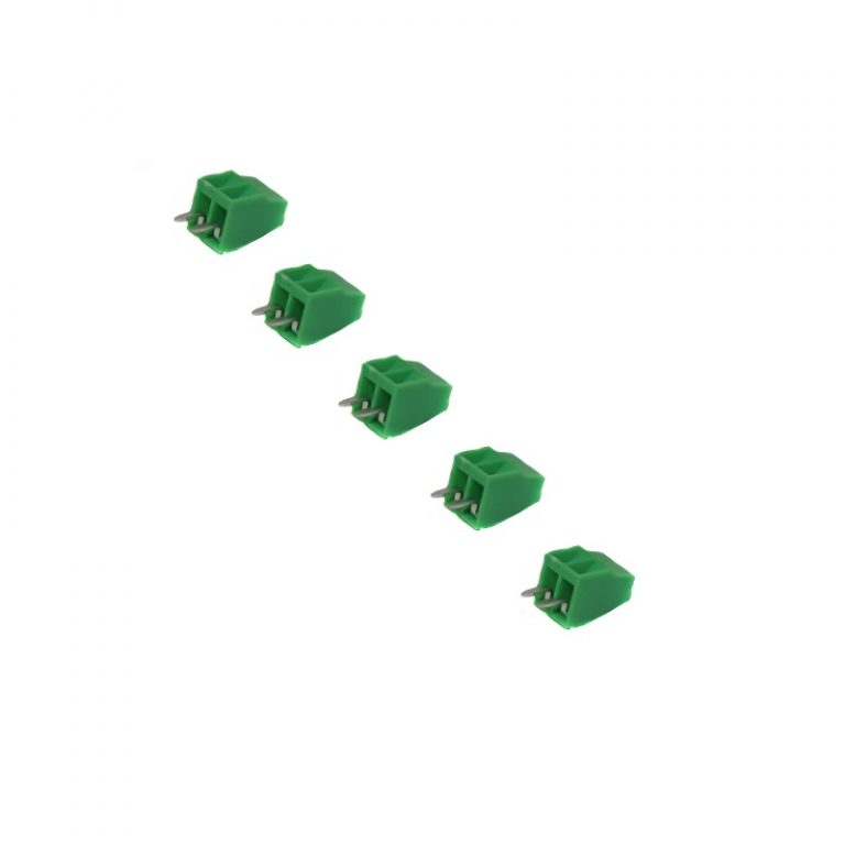 2 Pin 5.08mm Pitch Pluggable Screw Terminal Block (Pack of 5)