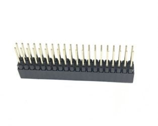 2.54MM 2x20 Pin Female Double Row Straight Long Header Strip