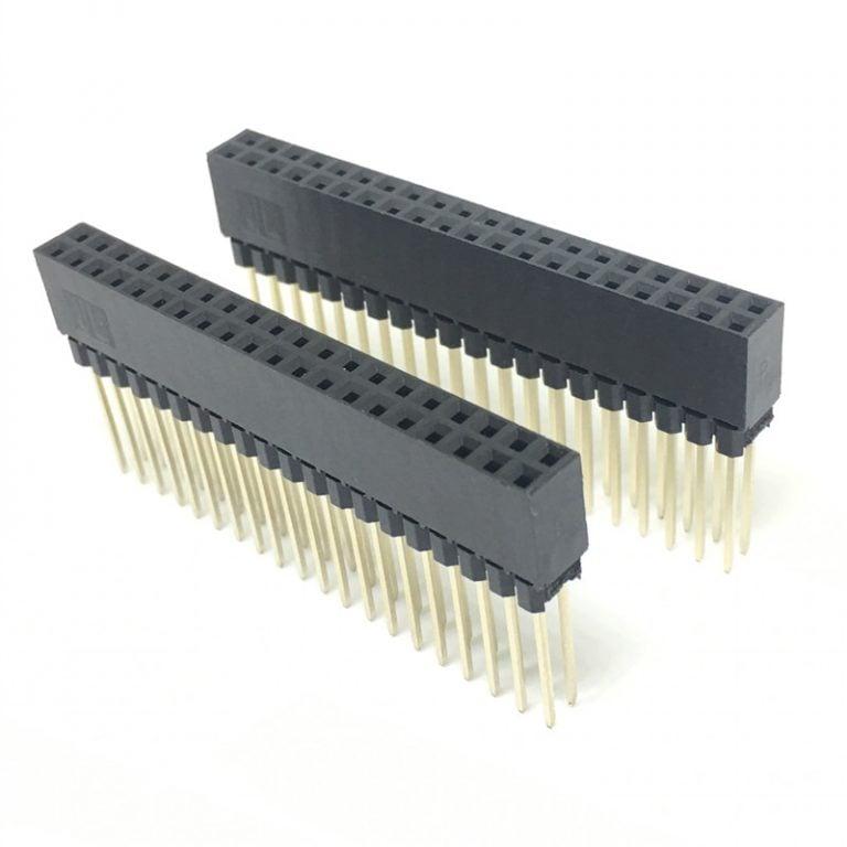 2.54MM 2x20 Pin Double Row Straight Female Long Header Strip
