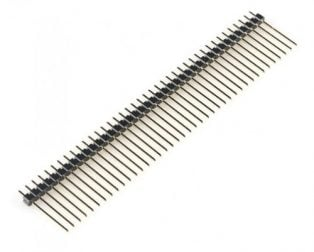 2.54mm 1x40 Pin Male Single Row Straight Long Header Strip