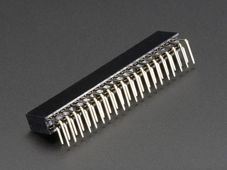 2.54mm 2x20 Right Angle Female Header Strip