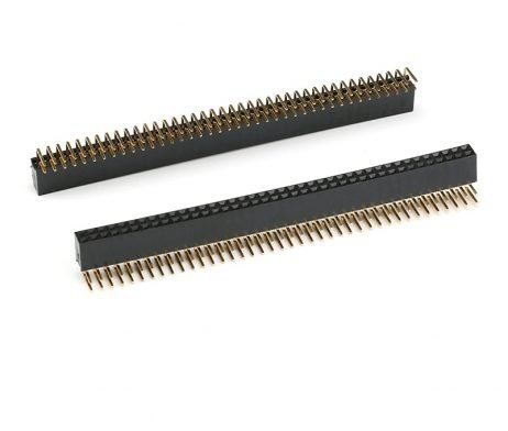2.54mm 2x40 Berg Strip Right Angle Female Connector