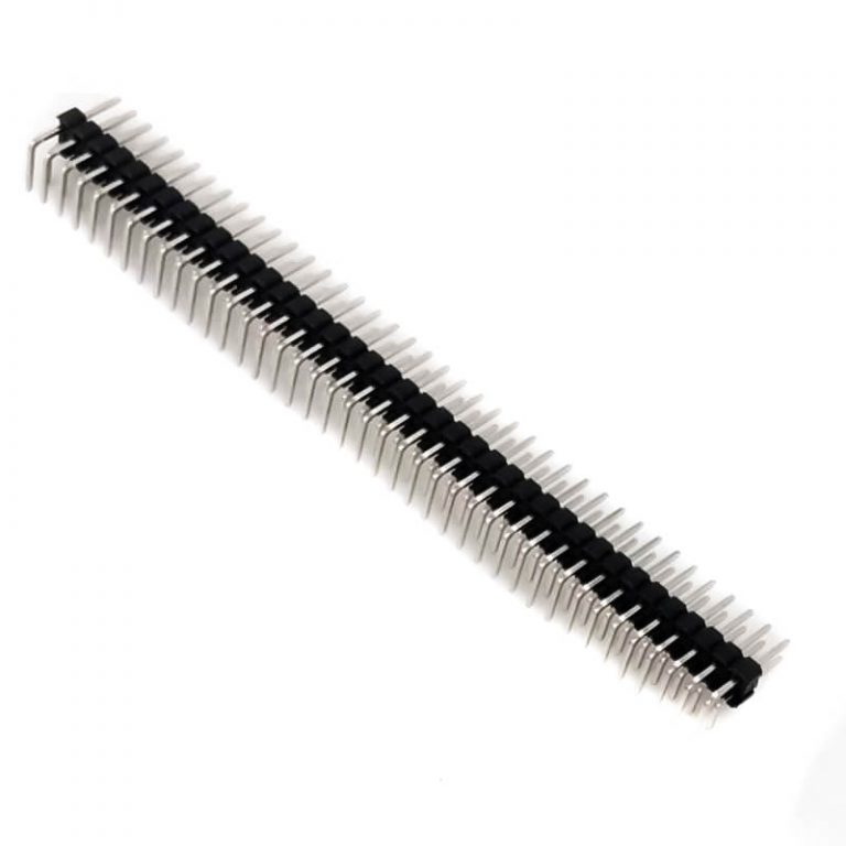 2.54mm 2x40 Double Row Right Angle Male Header Strip