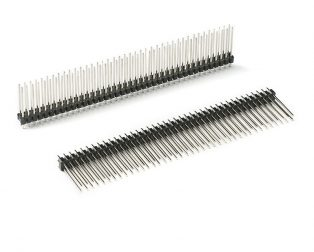 2.54mm 2x40 Pin Male Double Row Straight Long Header Strip