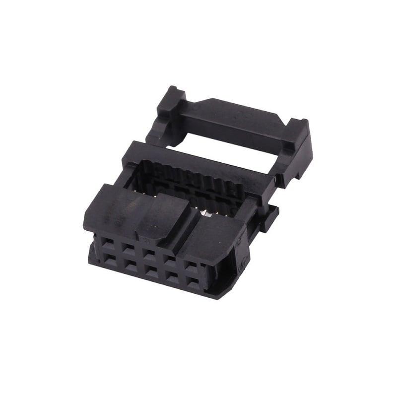2.54mm DC3 10 Pin Straight Female IDC Socket