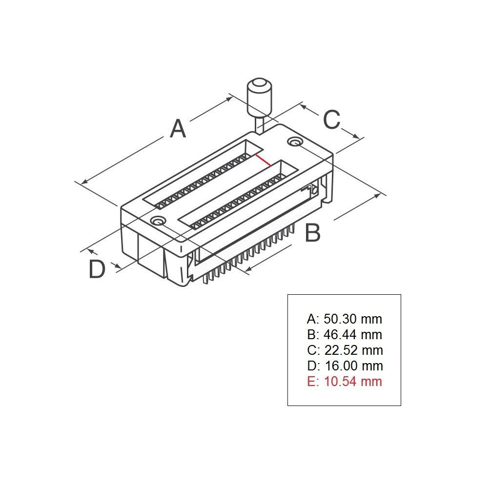 28 Pin ZIF Socket