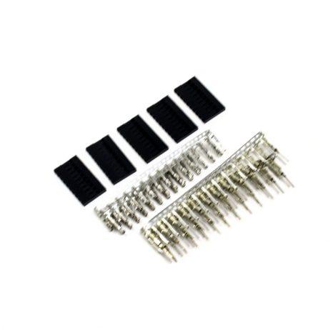 1*10 Pin Male-Female Crimp Connector
