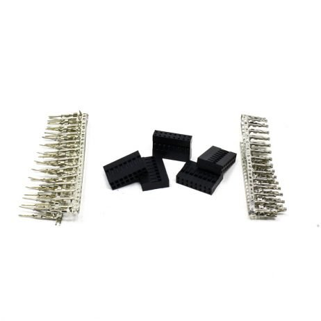 2*8 Pin Male-Female Crimp Connector (Pack of 5)