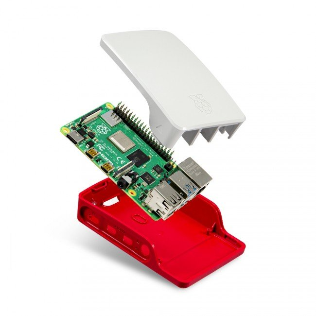 Official Raspberry Pi 4 Case-Red-White