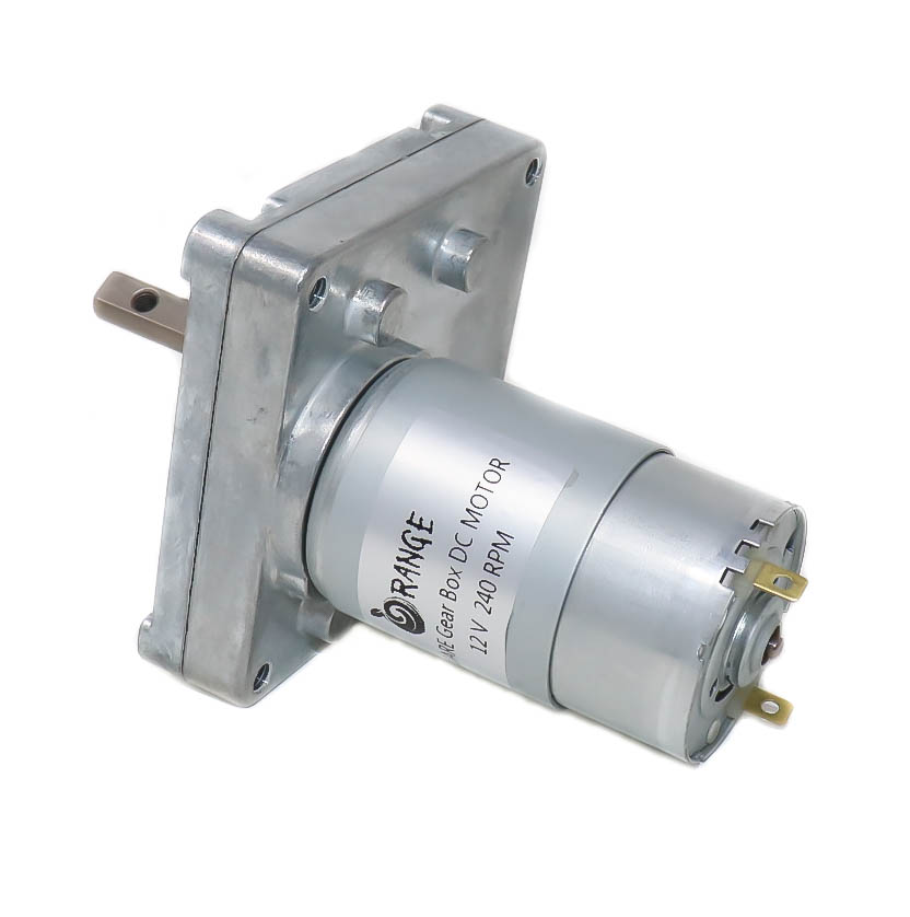 Orange MG555 12V 240RPM Square Gearbox DC motor For DIY Project