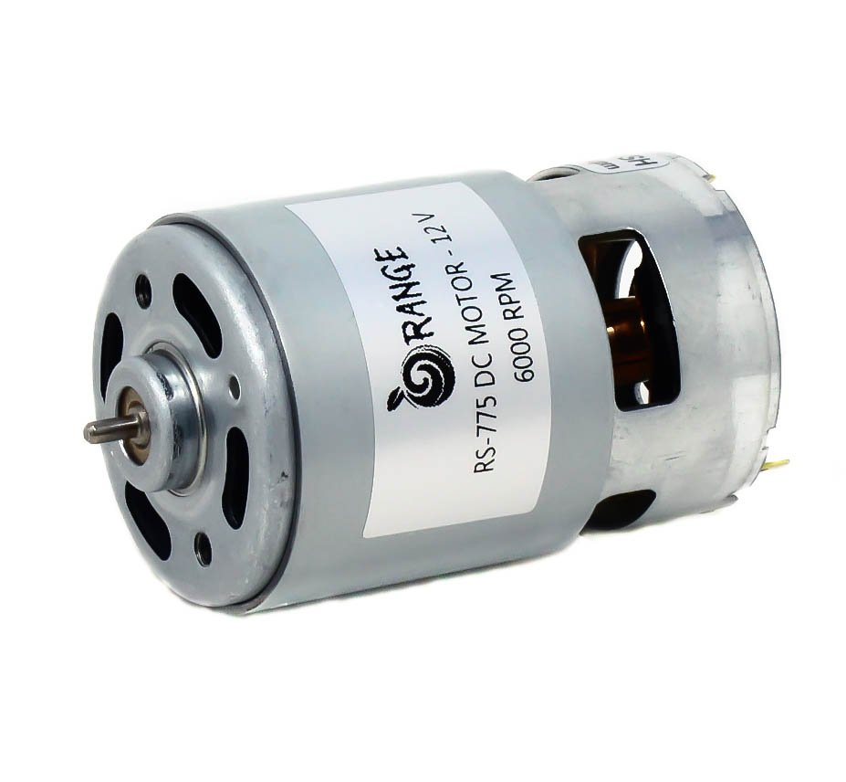 Orange RS775 12V 6000RPM Base DC Motor