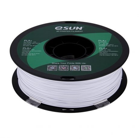 eSun PLA+ 1.75mm 3D Printing Filament 1kg-Cold White