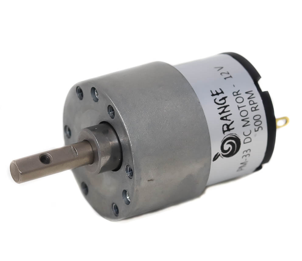 Orange PM33 12v 500RPM DC motor for DIY projects