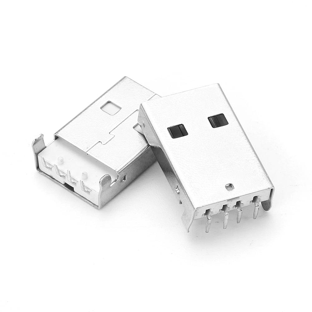 USB A-type Plug Male PCB RA Connector