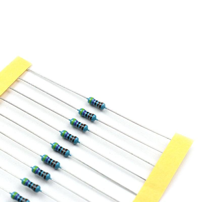 4.7k Ohm 0.5W Metal Film Resistor (Pack of 50)