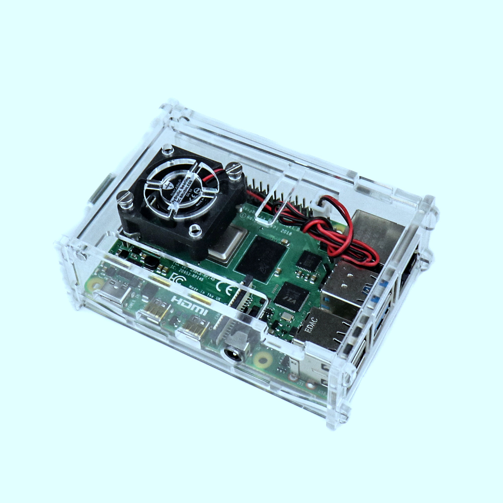 Acrylic Case for Raspberry PI 4 Model B with cooling Fan Slot