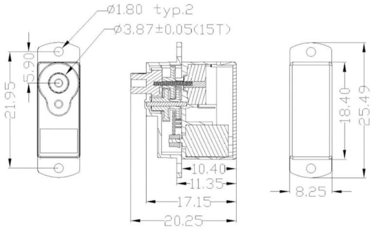 EMAX ES9251 II Plastic Micro Digital Servo 2.5gm for RC Models ----- ROBU