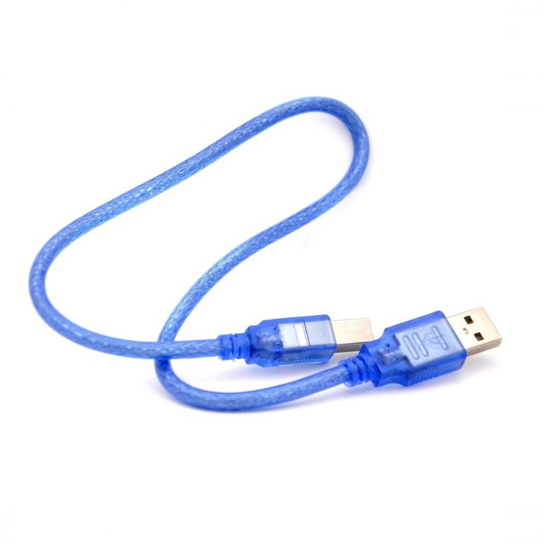1.64FT USB 2.0 A-B Male Printer Cable 0.3m