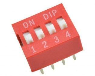 4 Way DIP Slide Switch
