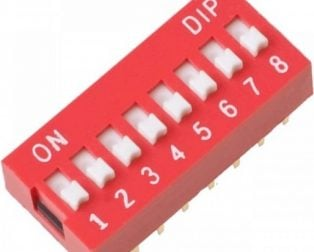 8 Way DIP Slide Switch