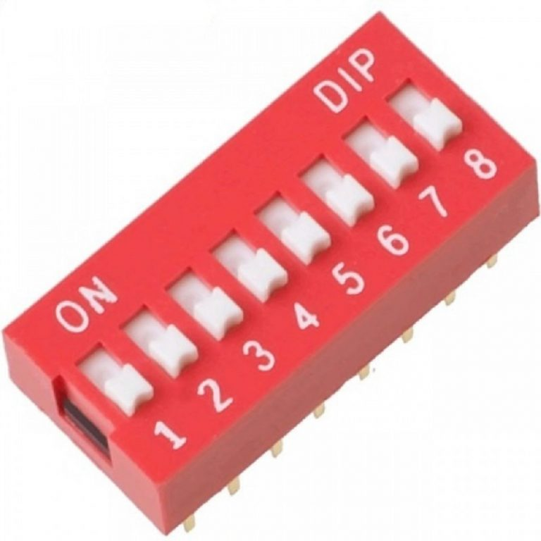 8 Way DIP Slide Switch