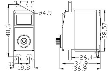 EMAX ES3005 Metal Analog Servo Waterproof 42gm for RC Model - - - ROBU