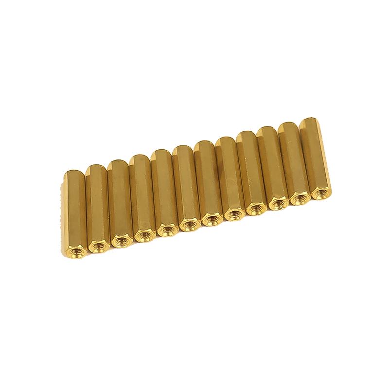 M3 X 25mm Female to Female Brass Hex Threaded Pillar Standoff Spacer