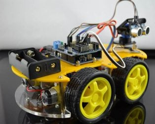 Ultrasonic Intelligent Bluetooth Robot Car Kit