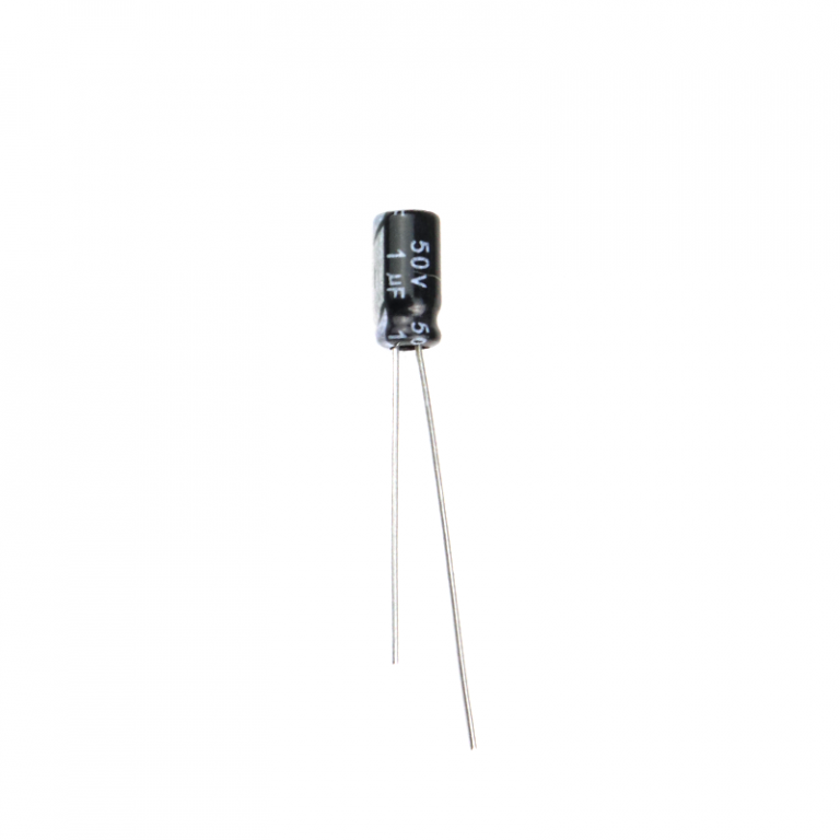 1 uF 50V Through Hole Electrolytic Capacitor (Pack of 40)