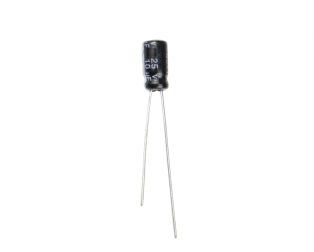 10 uF 25V Through Hole Electrolytic Capacitor (Pack of 40)