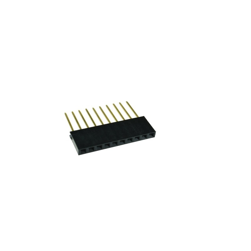 10 Pin Female 11mm tall stackable Header Connector