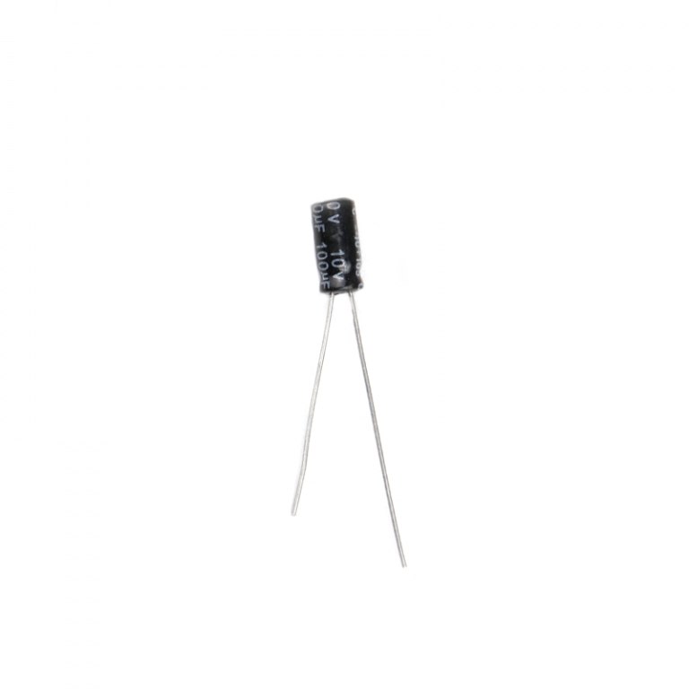 100 uF 10V Through Hole Electrolytic Capacitor (Pack of 20)